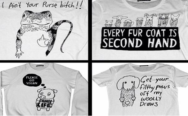 T-Shirts von Black Score und Peta