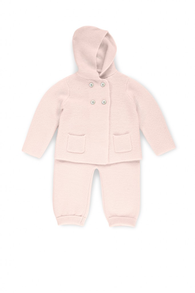 Allude Baby Cardigan und Baby Hose in Rosa