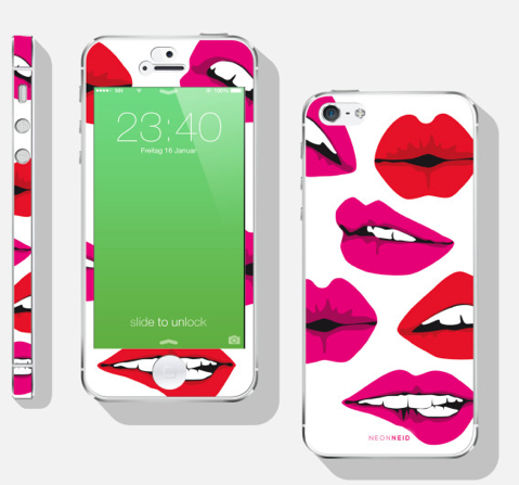 NEONNEID iPhone Folie Kiss me iPhone