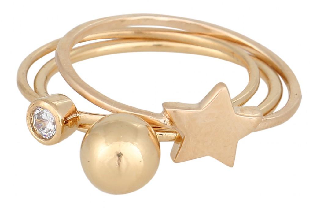 Goldener Ring von Delphine Pariente
