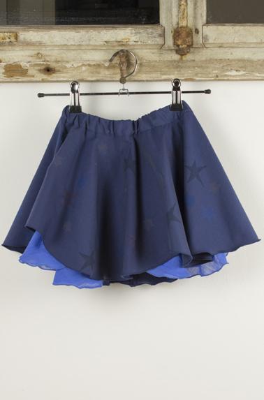 Rock Olivia von Love Kidswear in Blau mit blauen Sternen