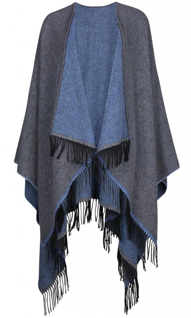 Cape von Das Cape Mädchen in grau und blau erhältlich für 139Euro über REYERlooks.com