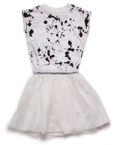 Splash Tulle Dress von nununu in white